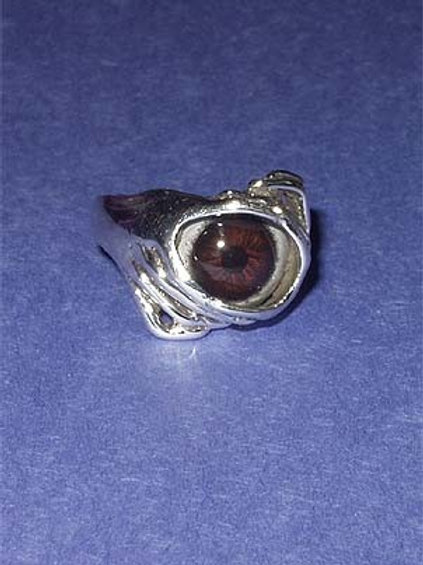 EYEBALL RING - BROWN