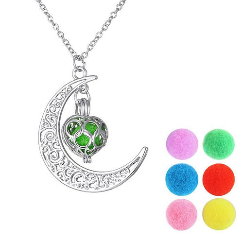 Moon Locket Necklace