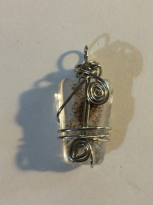 Wire Wrapped Routilated Quartz Pendant II