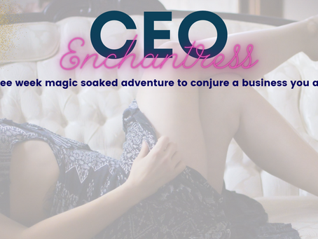 CEO Enchantress! 3 weeks to a business you adore!