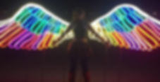 Emily in Wings at Burning Man