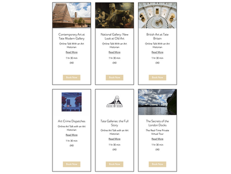 Website update: new online talks and virtual tours