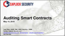 ISC2 National Capital Region - Auditing Smart Contracts