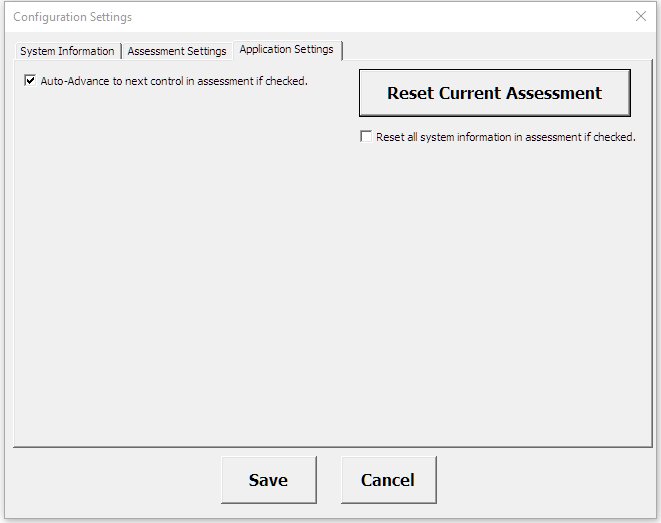 Automated control navigation and reset of assessment