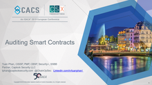 2019 EuroCACS/CSX Conference - Auditing Smart Contracts