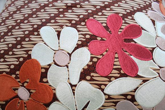 Cream Stripe Batik Cushion