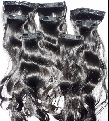 Indian Hair Clip In Set (Wavy)