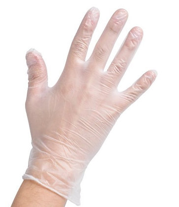Powder Free Vinyl Gloves 100 Pack