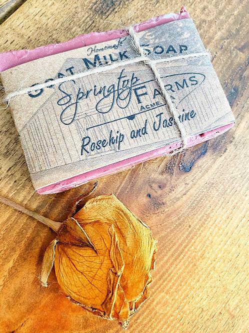 Rosehip and Jasmine Goat Milk Soap