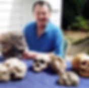 3 rex gilroy with a collection of fossil