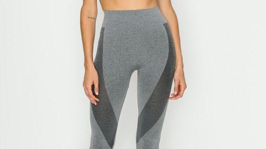 "Grey ""Get Fit"" Bra and Legging Set"