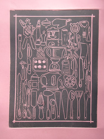 Ton-up relief print