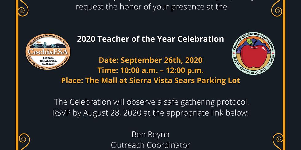 Teacher of the Year Drive-Thru Celebration