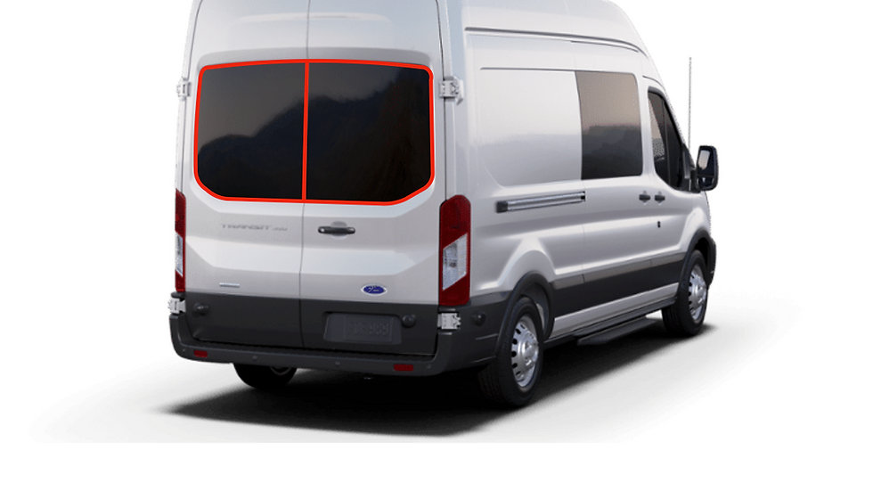 FORD Transit Rear Door Window Covers (Pair)