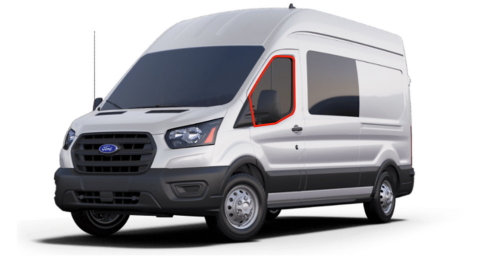 FORD Transit Front Door Window Covers (Pair)