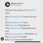 Billboard Debuts (2/3)