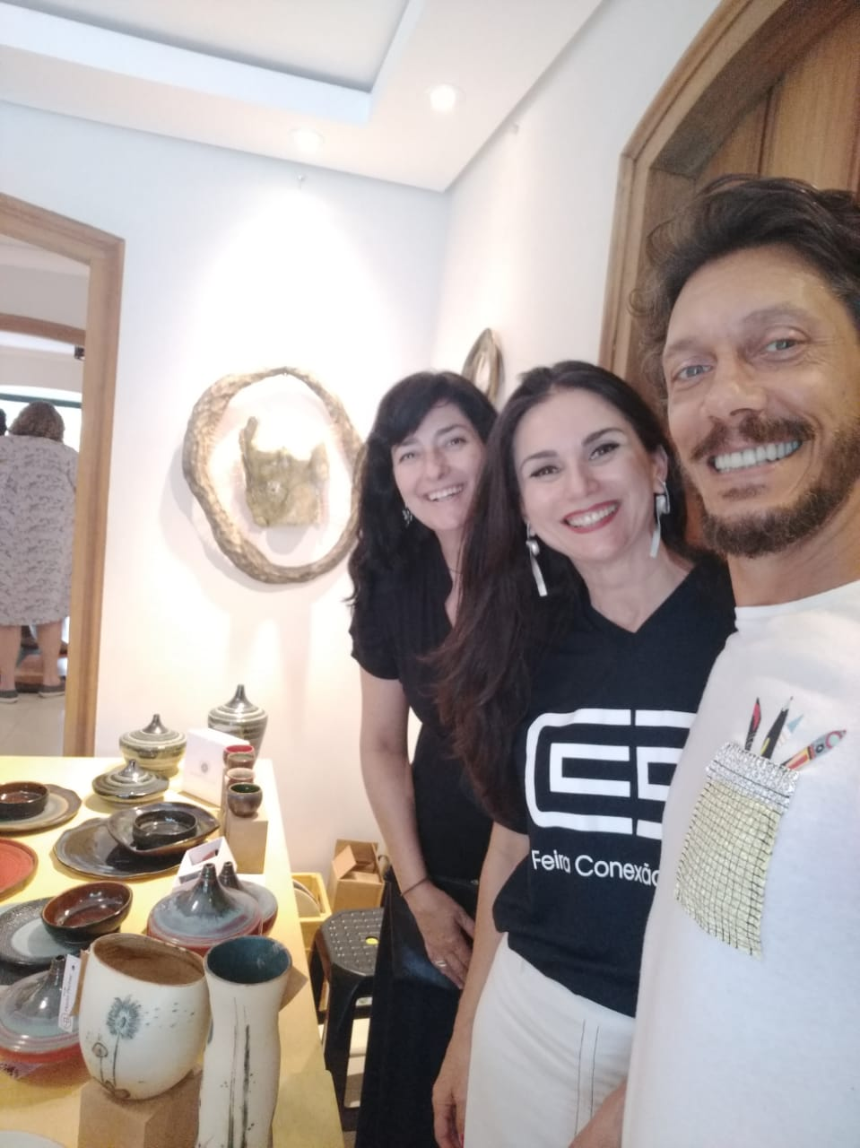 exposição In Design com Marcelo Alfeu e Eliana