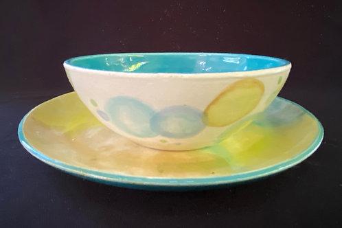 conjunto de prato e bowl