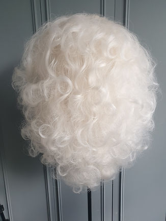 Platinum blonde showgirl big bouffant wig curls Drag Wig - Wig Maintenance and Repairs