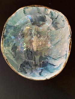 aquarela na cerâmica e lustre