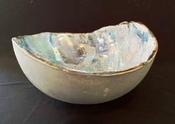 aquarela na cerâmica com lustre