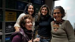 Stela, Beth, Flavia Leme e eu