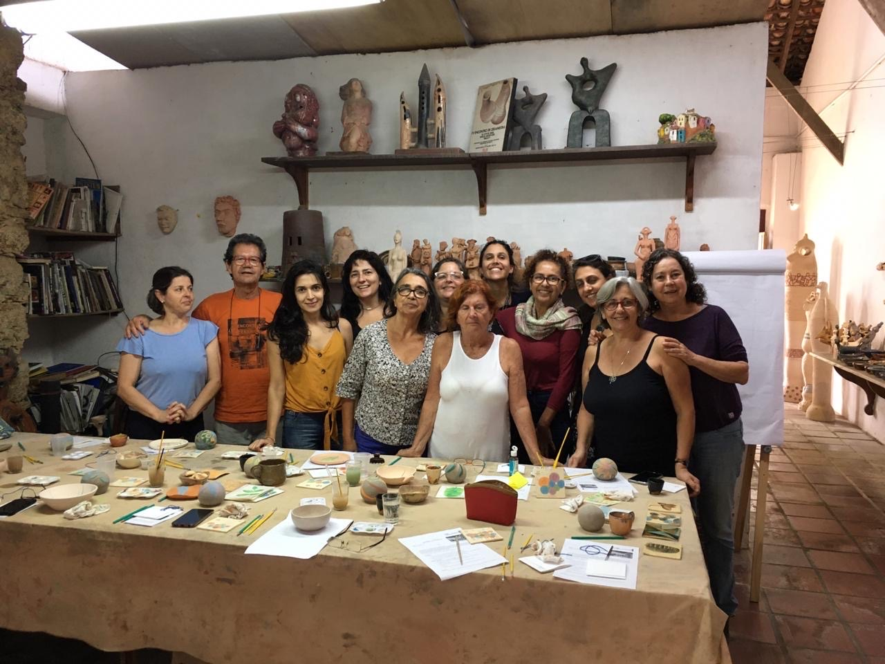 workshop de Aquarela no atelier de Dalcir Ramiro - Paraty
