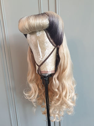 wig wham bamb blonde roll fringe victory roll wig - Wig Maintenance and Repair Services
