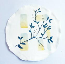 aquarela na cerâmica