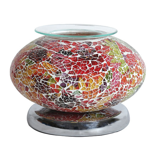 Ellipse Mosaic Electric Wax Melt Burner - Red