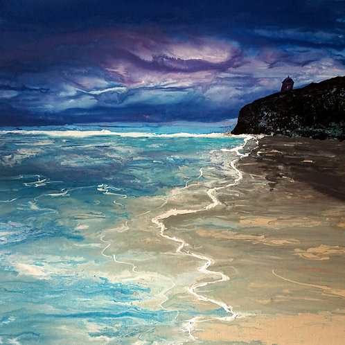LIMITED EDITION GICLEE PRINT MUSSENDEN TEMPLE BY NIGHT