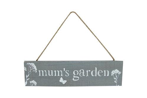 Wood Plaque 30cm - Mum`s Garden