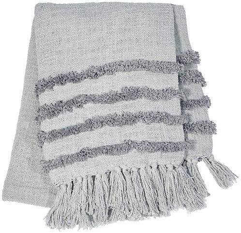 Sass & Belle Tufted Grey Blanket Throw