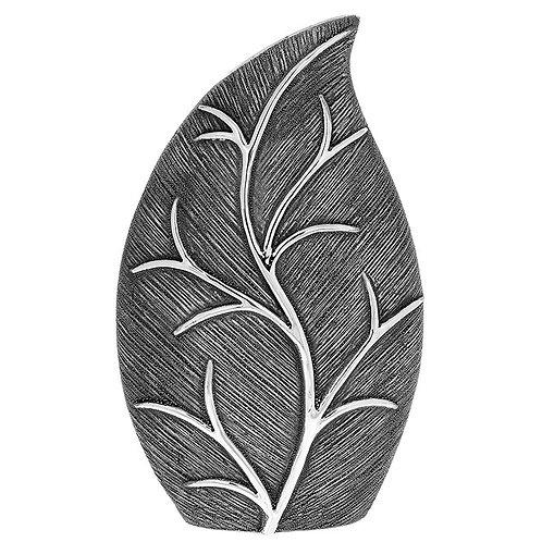 Leaf Slender Vase Gun Metal - Large