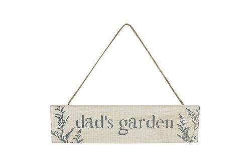 Wood Plaque 30cm - Dad's Garden