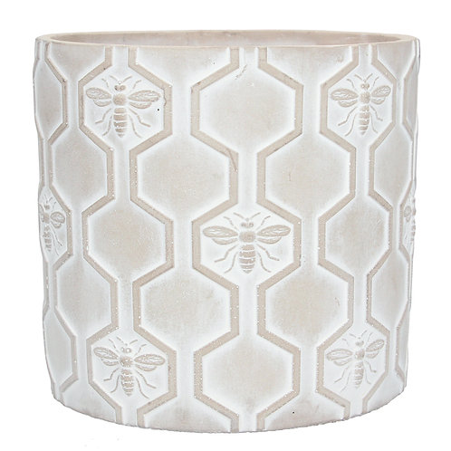 Concrete Pot Cover Large - Bee
