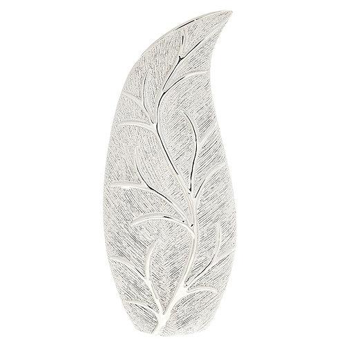 Leaf Slender Vase Silver - Small