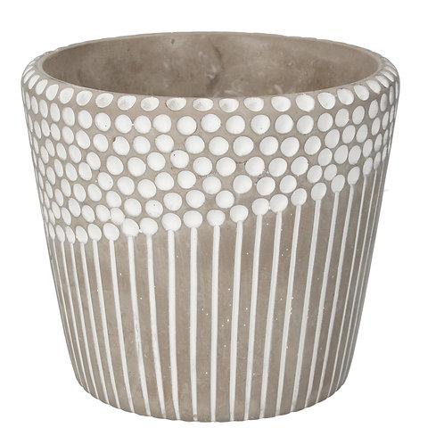 Concrete Pot Cover 17cm - Spots and Stripes
