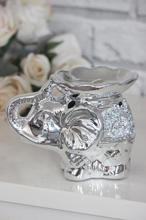 Leonardo Collection Silver Sparkle Elephant Wax Melt & Oil Warmer