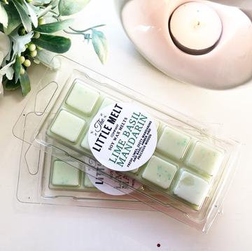 Lime Basil Mandarin Wax Snap Bar