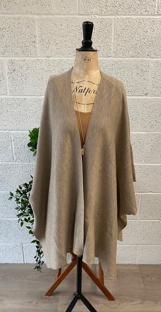 Knitted Tie Side Cape