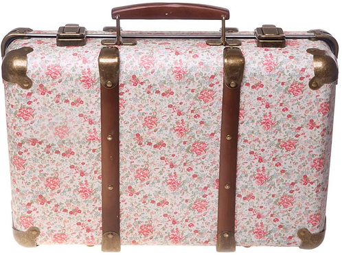 Sass & Belle Vintage Floral Suitcase Roses