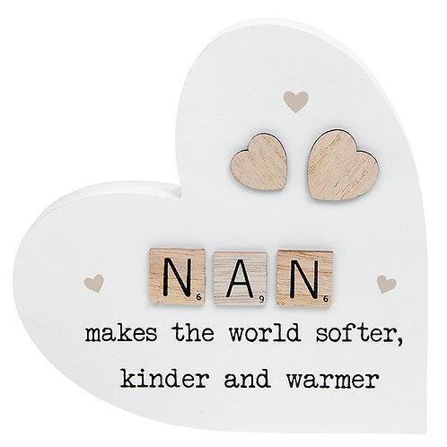 Scrabble Sentiment Standing Heart Nan