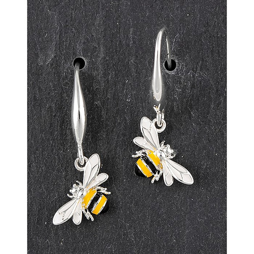Hand Painted Sparkle Bee Earrings