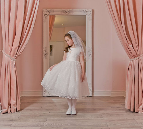 Iris - Communion Dress- Tea Length