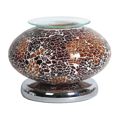 Ellipse Electric Wax Melt Burner - Natural Mosaic
