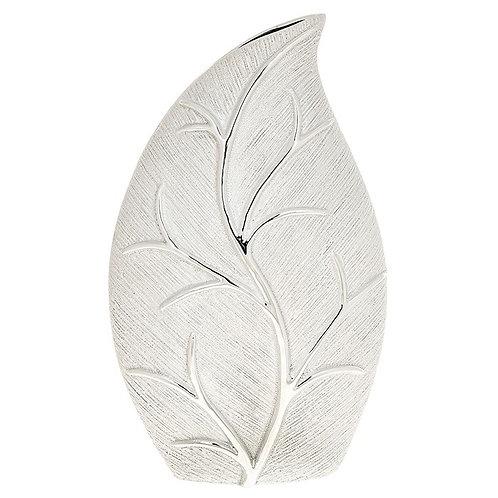Leaf Slender Vase Silver - Large