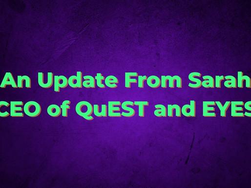 An Update From Sarah