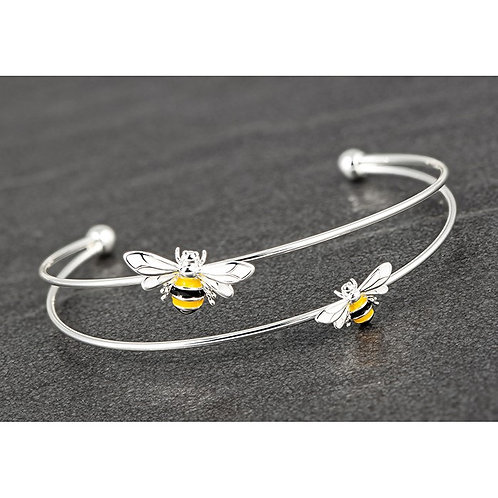 Hand Painted Sparkle Bee Bangle