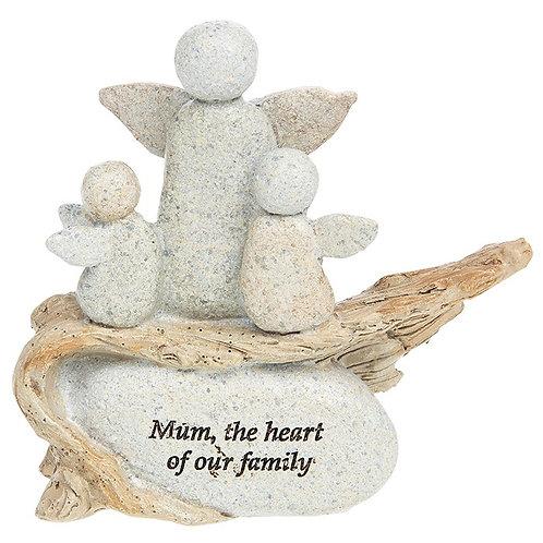 Pebble Art Angel Mothers Love